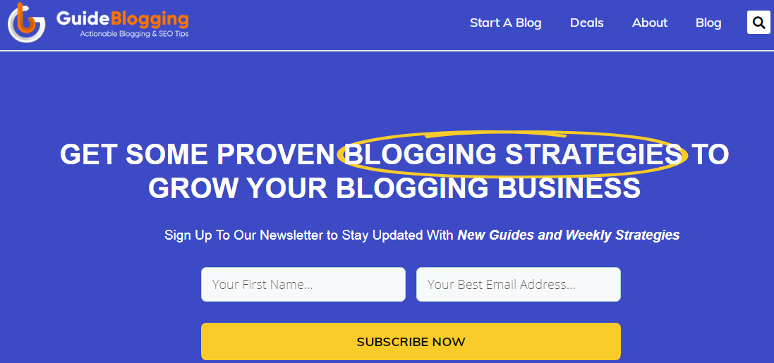 guide blogging